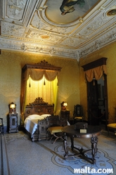 bedroom in Palazzo Parisio