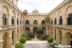 inner courtyard of in the Grandmaster Palace in Valletta