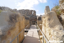 path through the Ggantija Temple Xaghra Gozo