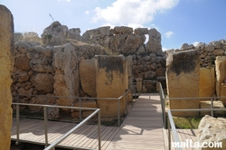 pillars of the Ggantija Temple Xaghra Gozo