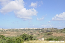 view from Ggantija Temple Xaghra Gozo