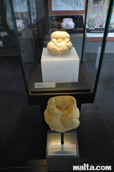 Small statues discovered in the Hagar Qim Temples