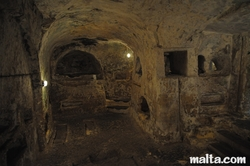 rooms in the St Paul's Catacombs in Rabat