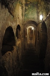 walled burial niches in the St Paul's Catacombs in Rabat