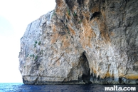 blue grotto rock layers colours