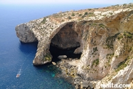 blue grotto view from the cliff