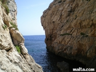 cliff and sea near blue grotto