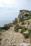 Rock path in along dingli cliffs
