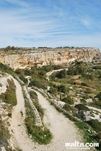 Track in the dingli cliffs