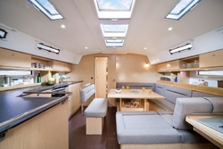 Interior of nautica sailing boat