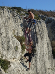 climbing and absailing gozo