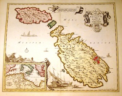 antique Malta map