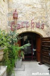 Entrance to Bacchus Restaurant