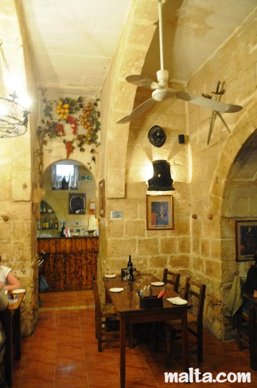 Grotto Tavern Restaurant In Rabat Malta