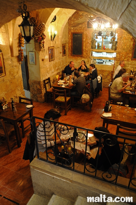 Grotto Tavern Restaurant In Rabat Malta