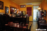 Bar and kitchen of Ta'Kris Restaurant and Maltese Bistro
